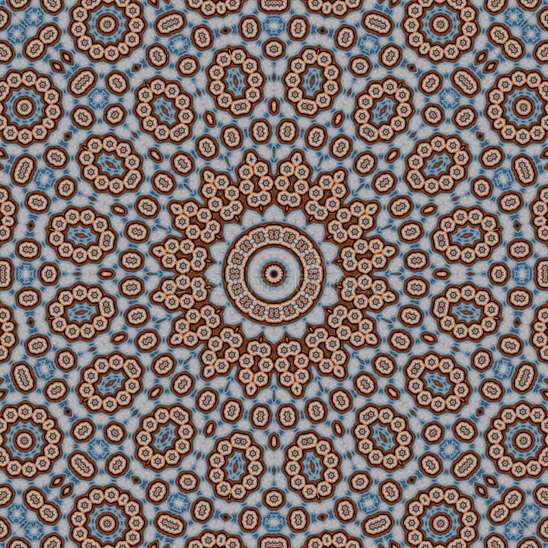 Rocznik symetrii deseniowy abstrakcjonistyczny kalejdoskop stubarwny ilustracja wektor