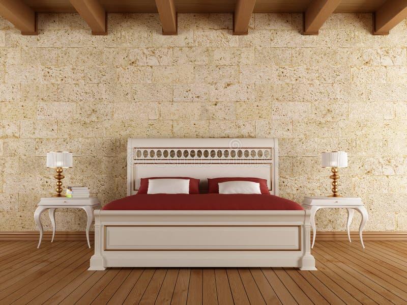 Rocznik sypialnia ilustracji