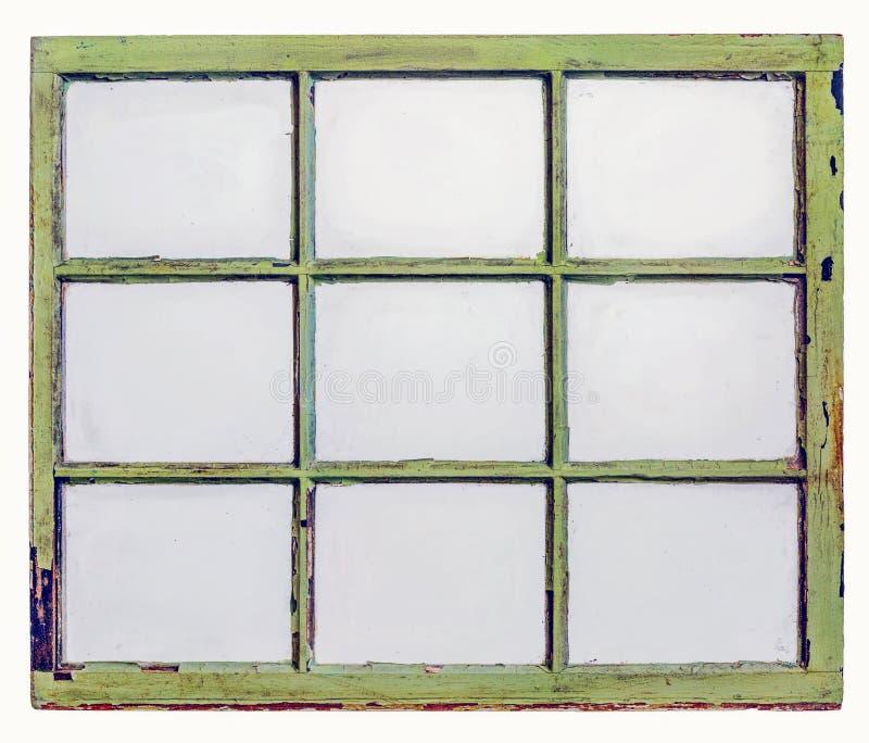 Rocznik szarfy okno panel z brudnym szkłem zdjęcia royalty free