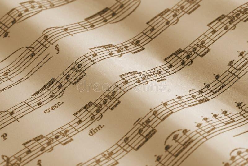 Rocznik szkotowa muzyka z notatki selekcyjną ostrością fotografia stock