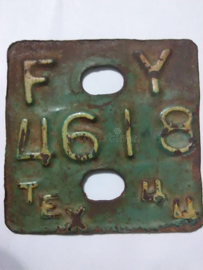 1944 rocznik tablica rejestracyjna zdjęcie stock
