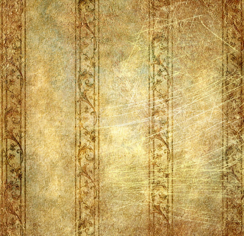 rocznik tapeta royalty ilustracja