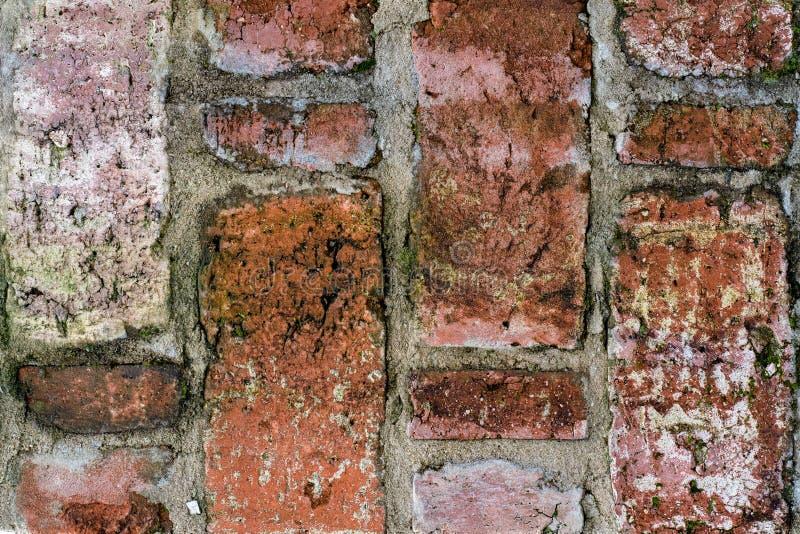 Rocznik tekstura stary brickwork w zamkniętym widoku zdjęcia royalty free