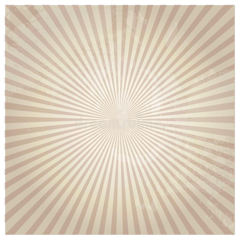 Rocznik tekstury papier z rozjarzonym centrum ilustracja wektor