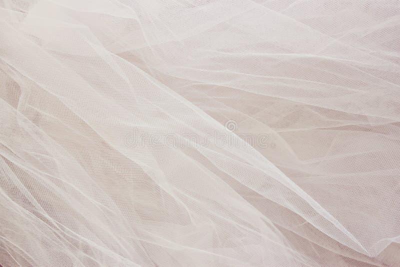 Rocznik tekstury tiulowy szyfonowy tło pojęcia sukni panny młodej portret schodów poślubić obrazy royalty free