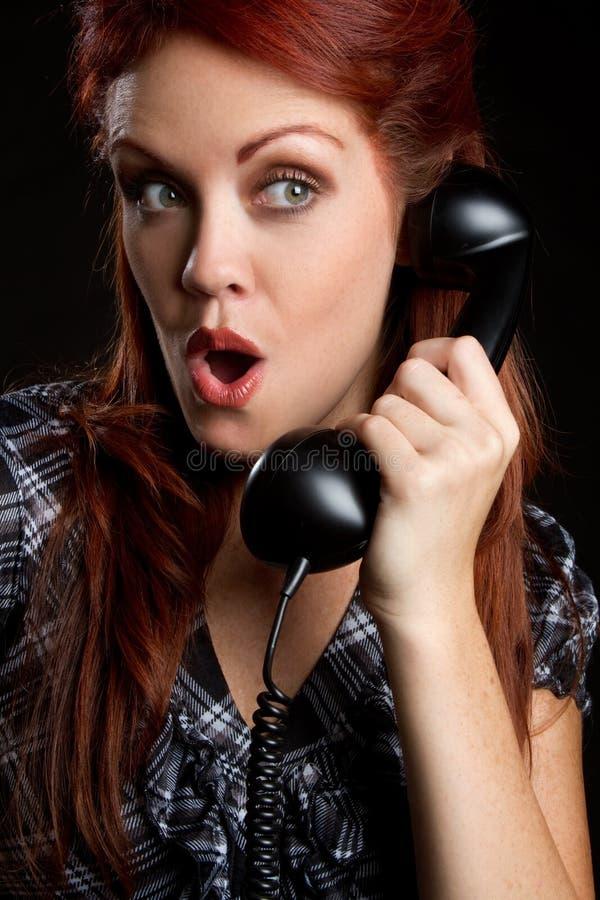 rocznik telefoniczna kobieta fotografia royalty free