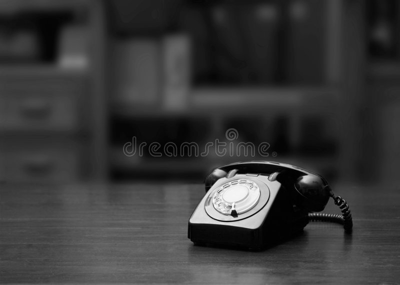 rocznik telefonu obraz stock