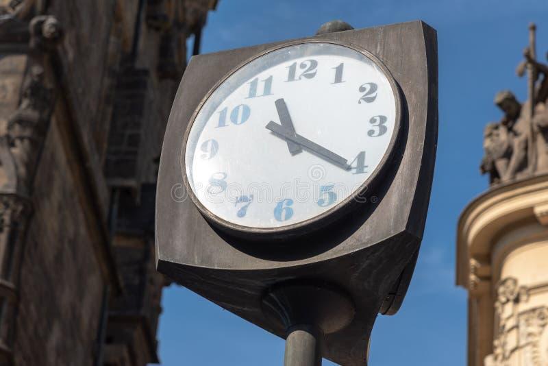 Rocznik ulicy zegar zdjęcia royalty free