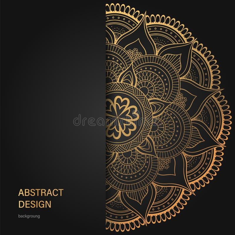 Rocznik ulotka i Projektujemy szablon Kreatywnie ornament i, strona układy, Luksusowy złoto ilustracja wektor