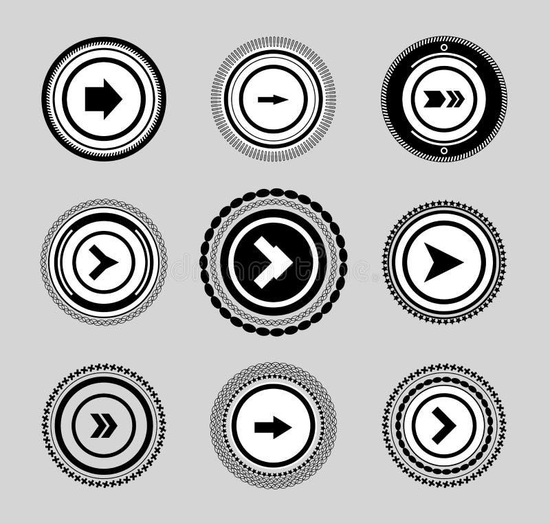 Download Rocznik Ustawiający Etykietki I Odznak Strzała Ilustracja Wektor - Ilustracja złożonej z sztandar, arrowed: 28971541