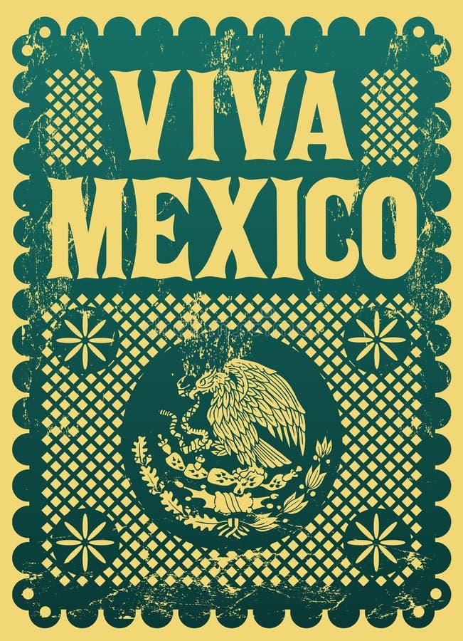 Rocznik Viva Meksyk - meksykański wakacje royalty ilustracja