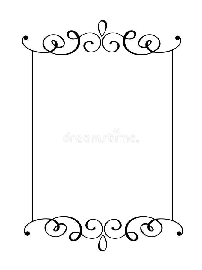 Rocznik wektorowa dekoracyjna ręka rysować granicy i rama Projektuje ilustrację dla książki, kartka z pozdrowieniami, ślub, druk ilustracja wektor