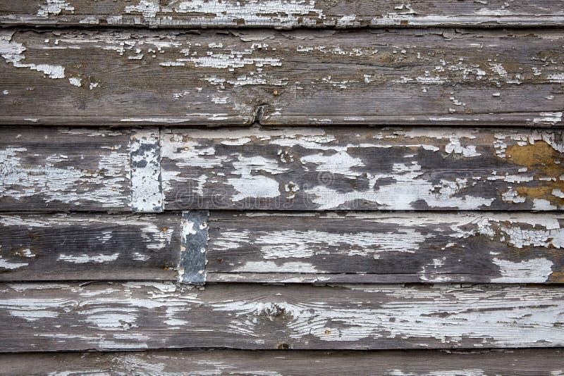 Rocznik wietrzał podławą malującą drewnianą teksturę jako tło zdjęcie stock