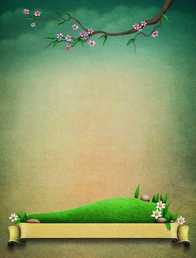 Rocznik wiosny tło ilustracja wektor