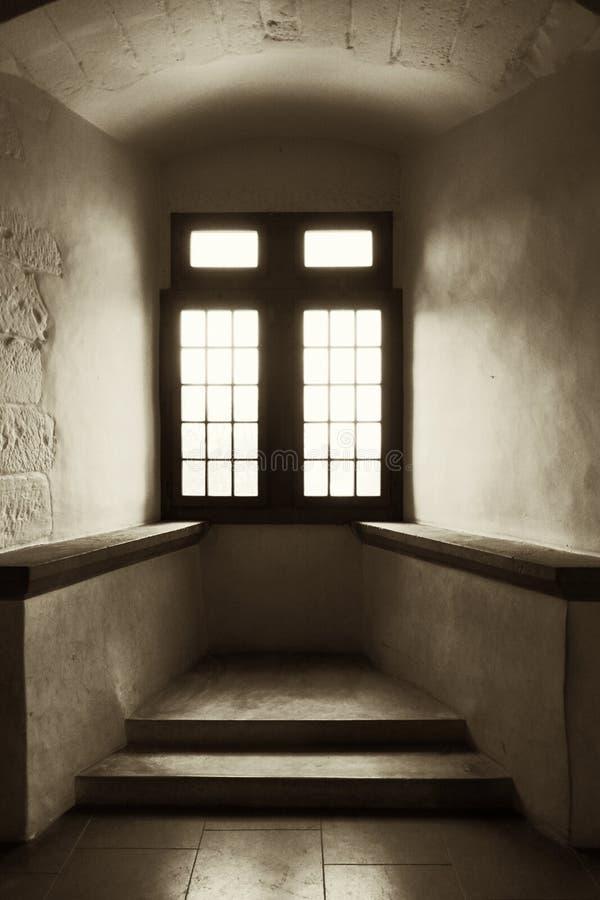 Rocznik Wysklepiający Wnękowy alkierza okno obraz royalty free