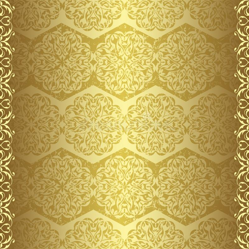 rocznik złota tapeta ilustracja wektor