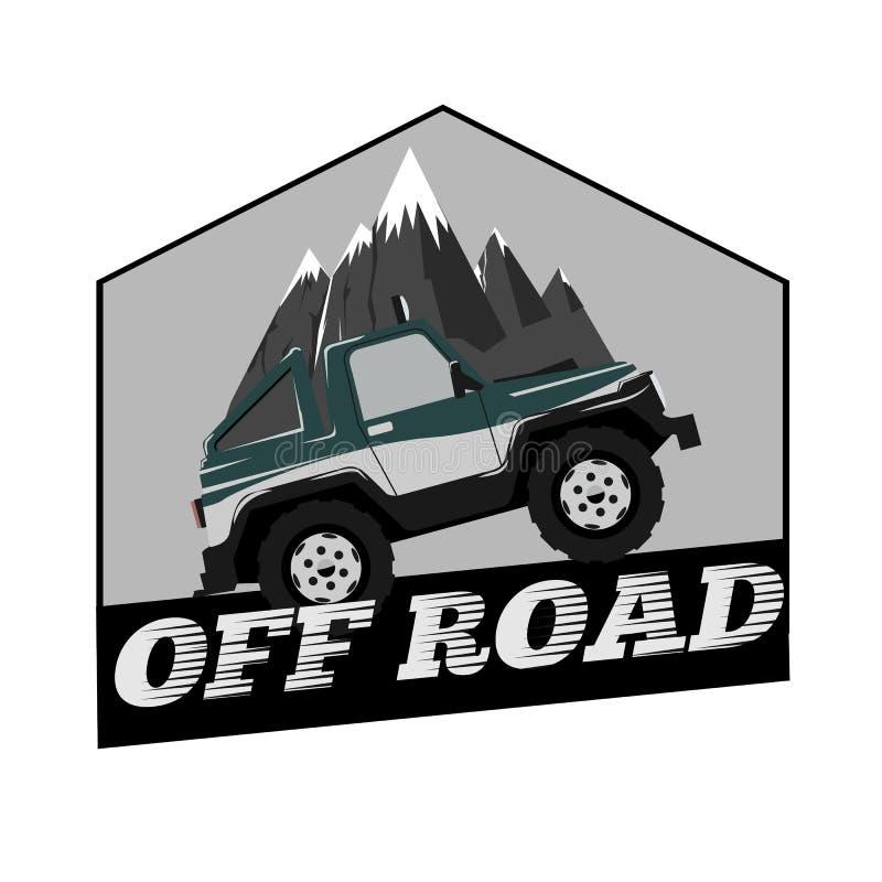 Rocznik Z drogowej samochodowej logo szablonu góry również zwrócić corel ilustracji wektora royalty ilustracja