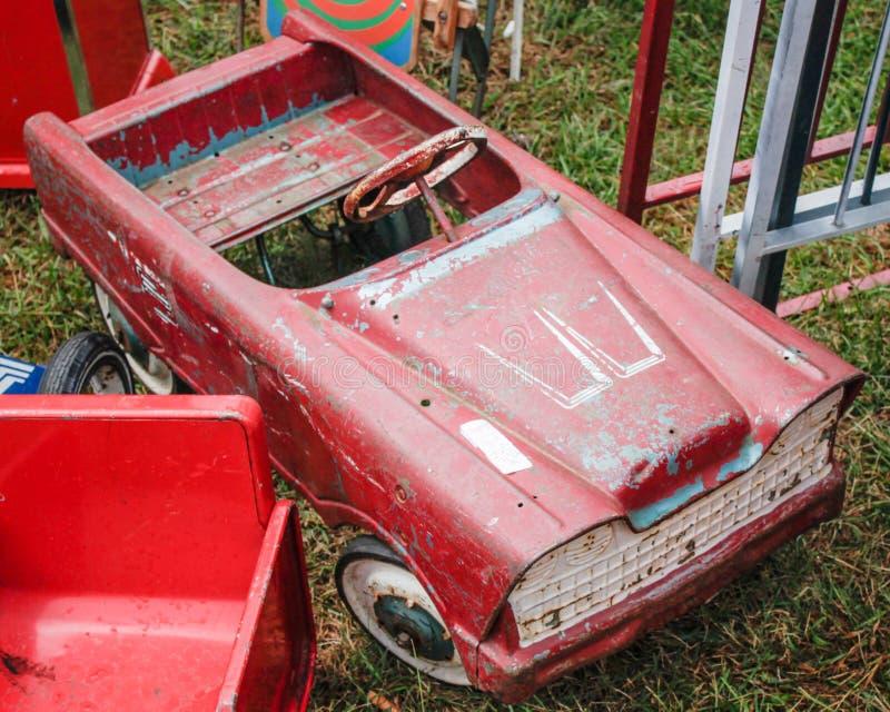 Rocznik zabawka Peddle samochód zdjęcia royalty free