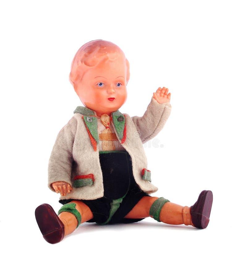 Rocznik zabawkarska chłopiec obraz royalty free