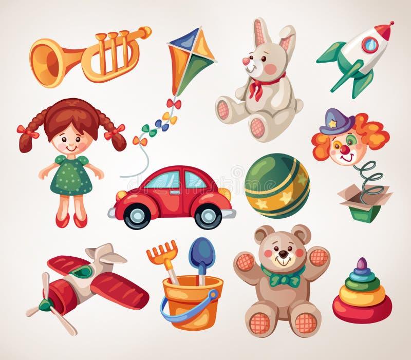 Rocznik zabawki ilustracji