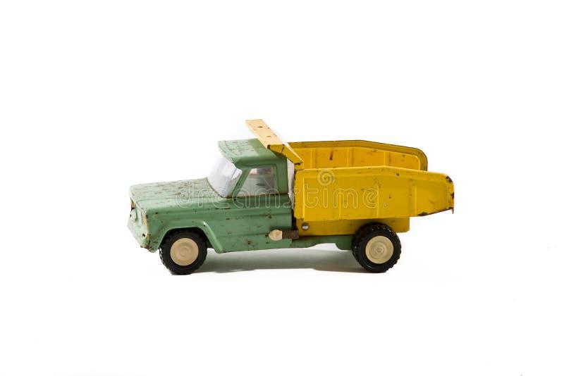 Rocznik zabawki Ośniedziała Staromodna ciężarówka Retro obraz stock