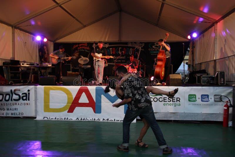 Rocznik Zakorzenia festiwal - Melzo, Czerwiec 30, 2019 fotografia stock