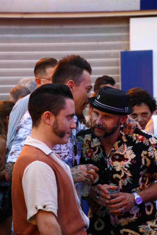 Rocznik Zakorzenia festiwal - Melzo, Czerwiec 30, 2019 obraz stock