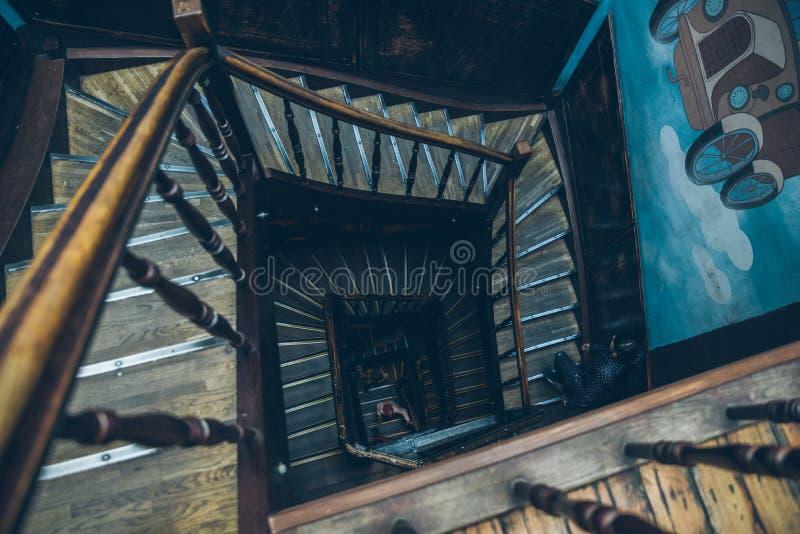 Rocznika ślimakowaty schody obrazy stock