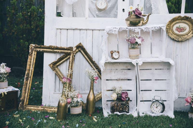 Rocznika ślub zdjęcie stock