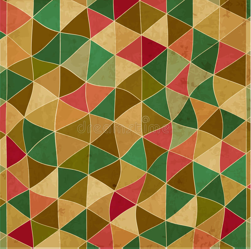 Rocznika abstrakta wzór trójboki ilustracja wektor