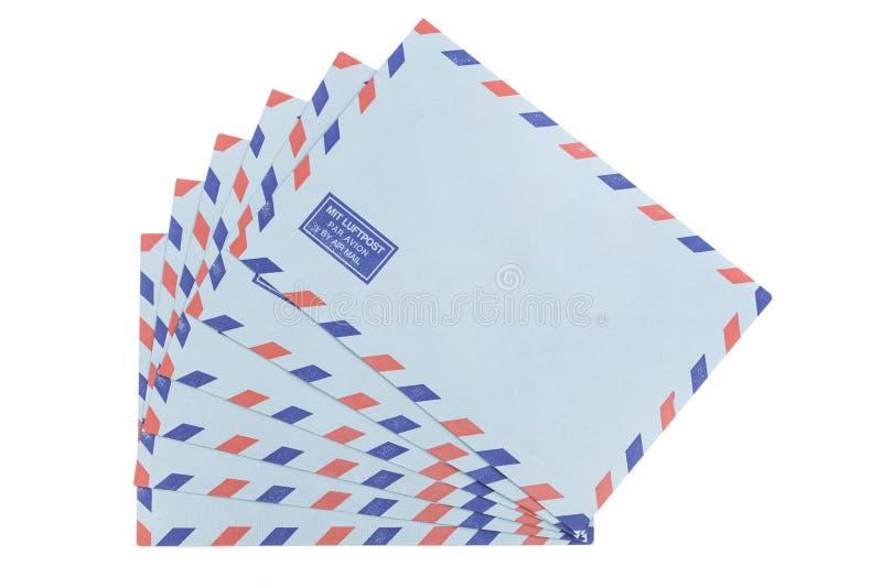 Rocznika airmail koperty obraz royalty free