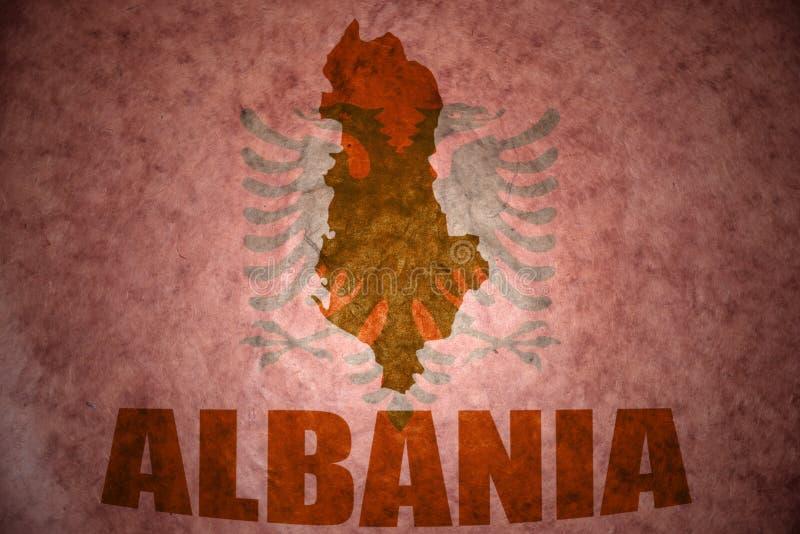 Rocznika Albania mapa obraz stock