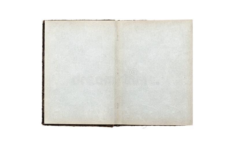 Rocznika albumu fotograficznego otwarta książka z puste miejsce pustymi stronami z kopii przestrzenią i zdjęcie stock