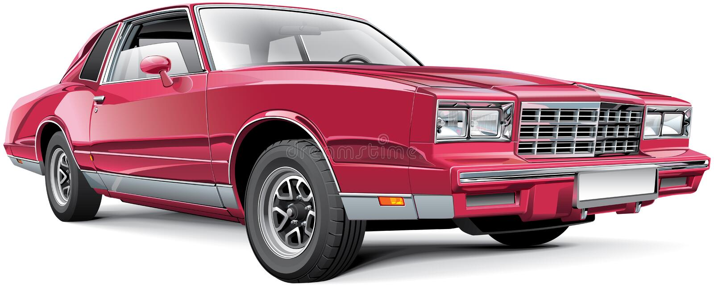 Rocznika amerykanina Coupe ilustracji