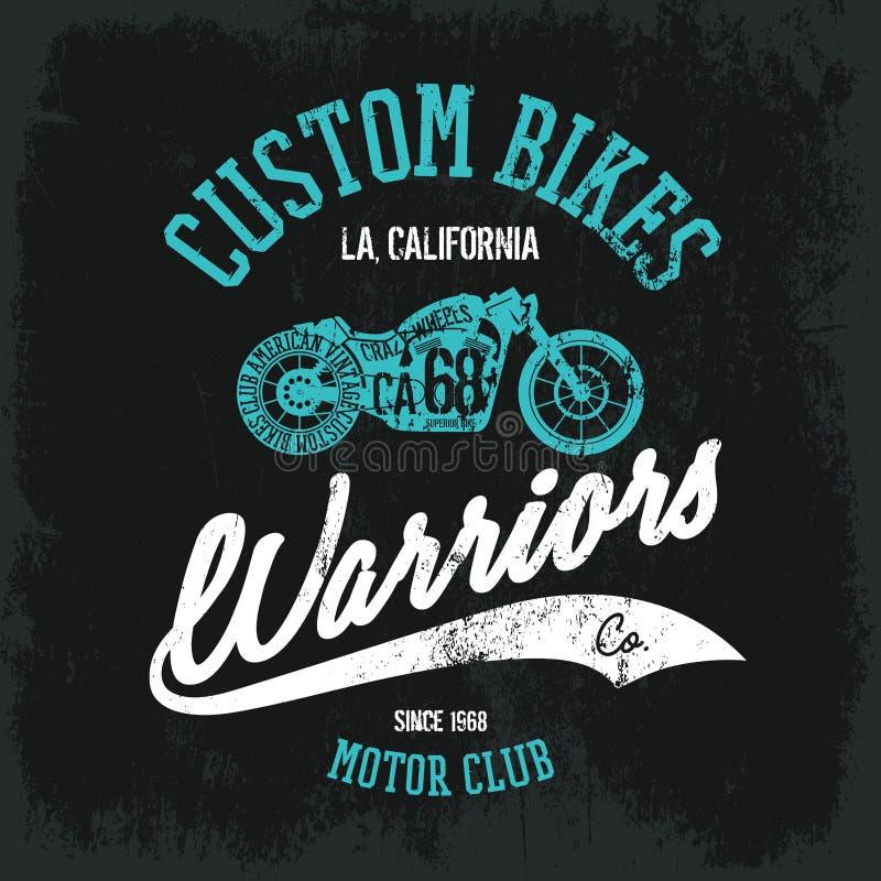 Rocznika amerykanina motocykl ilustracji