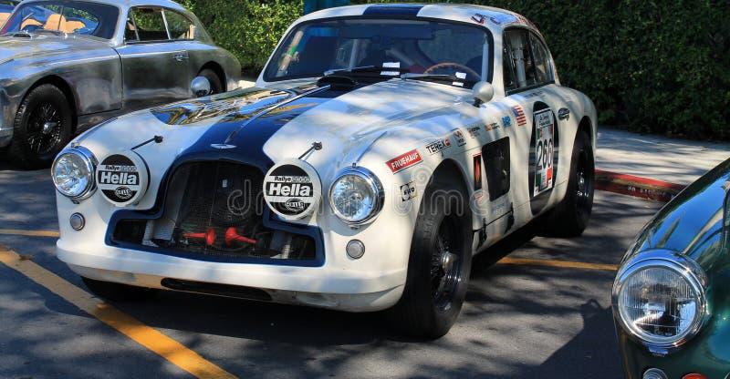 Rocznika Aston oknówki samochód wyścigowy zdjęcie stock