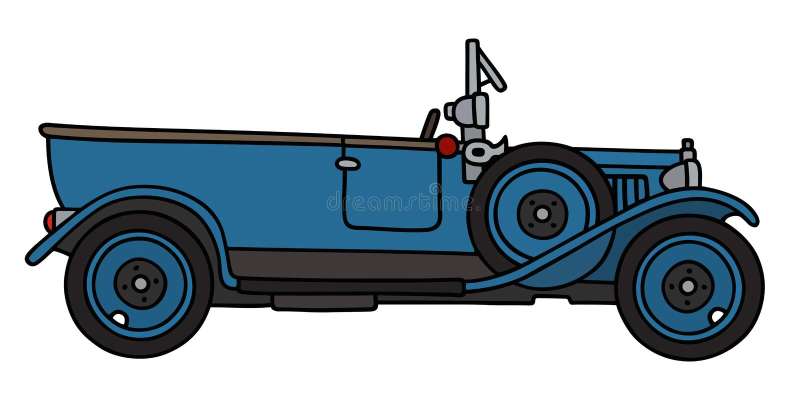 Rocznika błękita kabriolet ilustracji