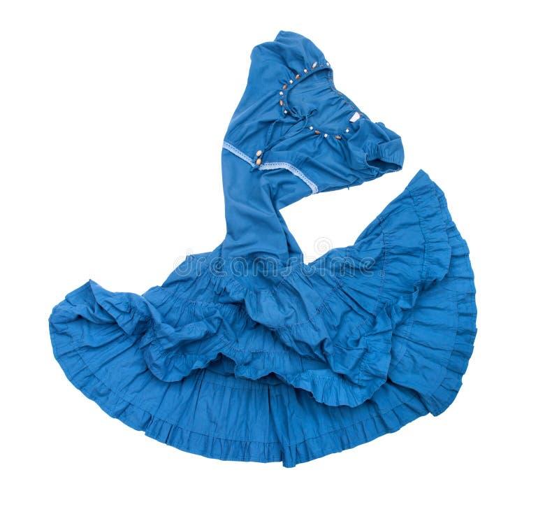 Rocznika błękita suknia fotografia stock