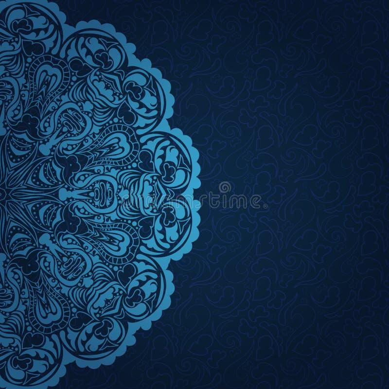 Rocznika błękita zaproszenie royalty ilustracja