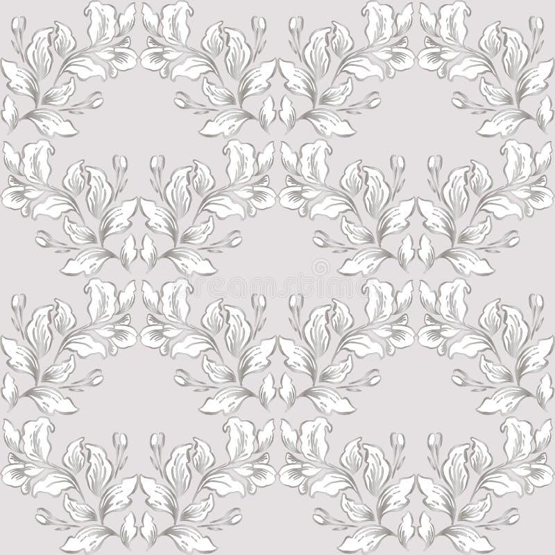 Rocznika baroku wzoru bezszwowy wektor w klasycznym kwiat grafiki stylu tle dla tła, szablon, okładkowej strony projekt, fabr ilustracja wektor