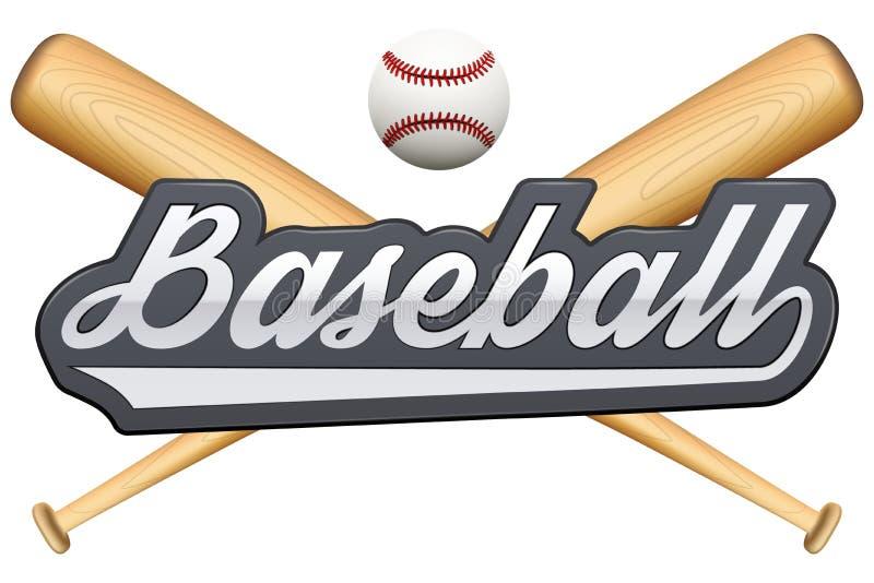 Rocznika baseballa odznaka i etykietka ilustracji