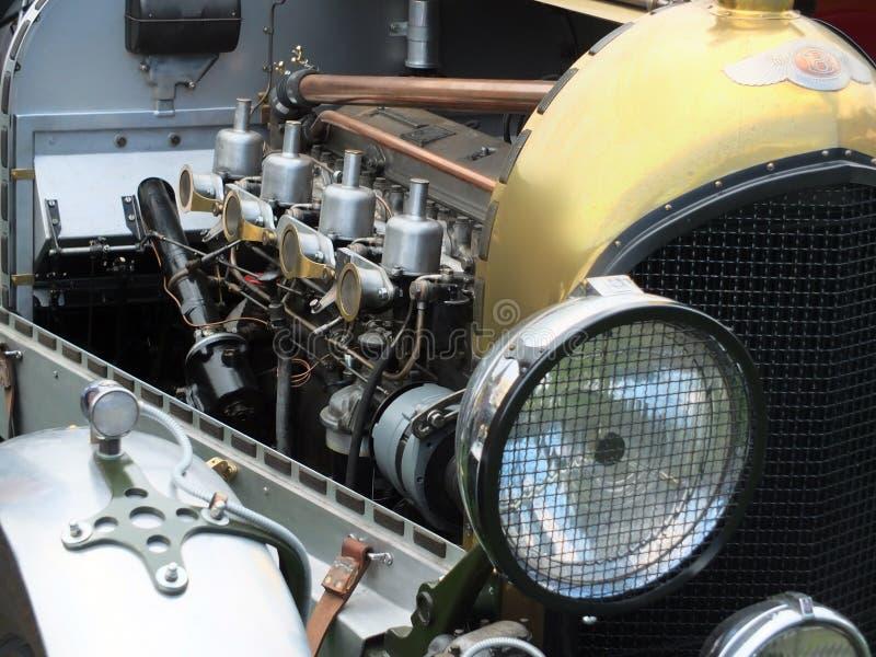 Rocznika bentley samochodowy silnik obrazy stock
