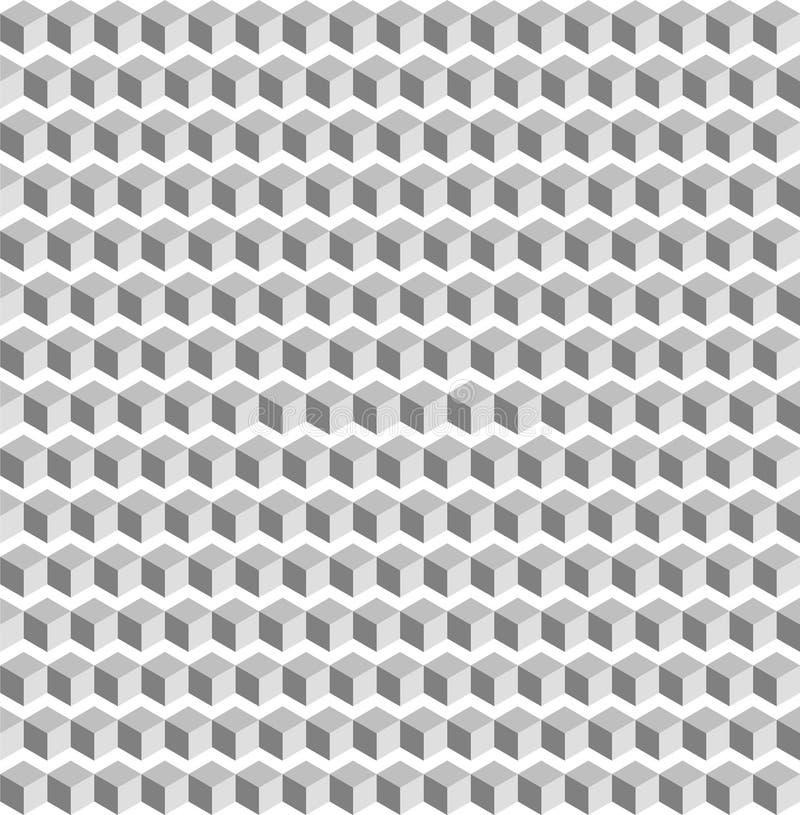 Rocznika biały tło bezszwowy abstrakcjonistyczna białego kwadrata geometic tekstura ilustracja wektor
