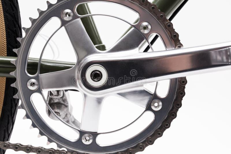 Rocznika bicyklu korba zdjęcie stock