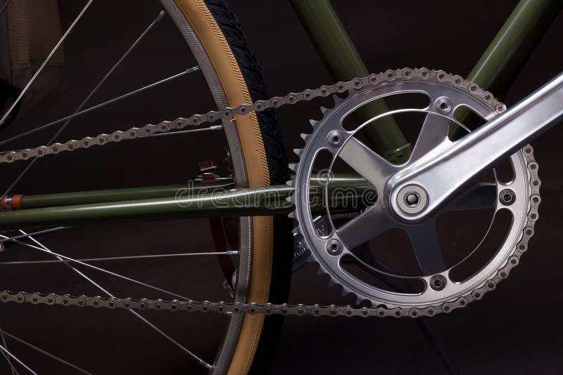 Rocznika bicyklu korba obraz royalty free