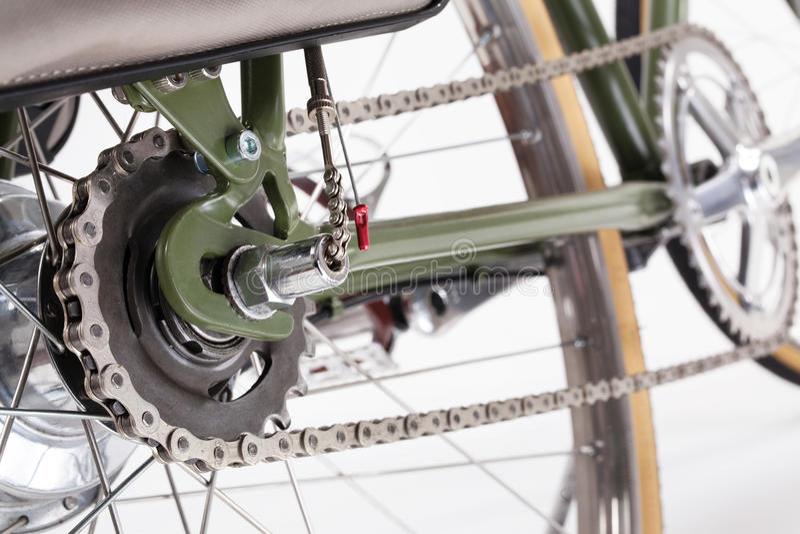 Rocznika bicyklu korba zdjęcie royalty free