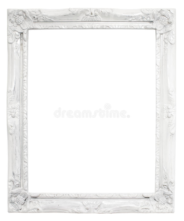 Rocznika bielu rama z pustą przestrzenią z ścinek ścieżką, obraz royalty free