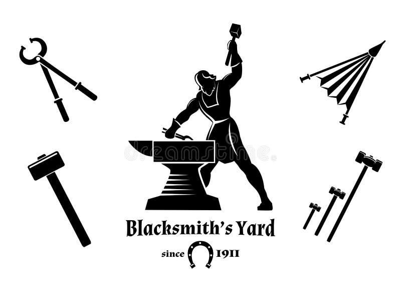 Rocznika blacksmith ilustracja wektor