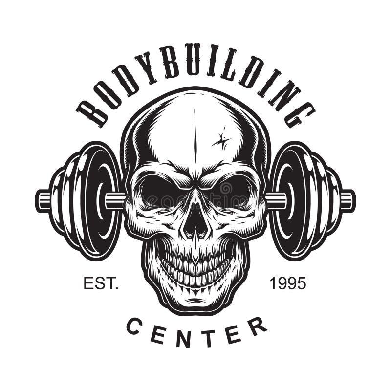 Rocznika bodybuilding etykietki pojęcie ilustracja wektor
