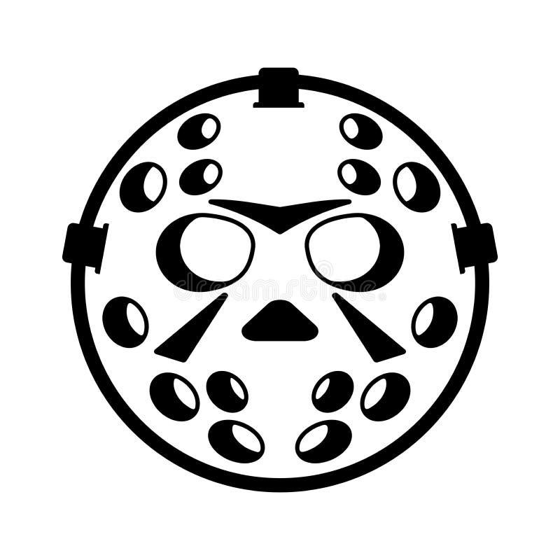 Rocznika bramkarza hełma hokejowa ikona ilustracja wektor